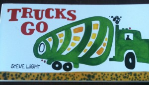trucks go book for kids