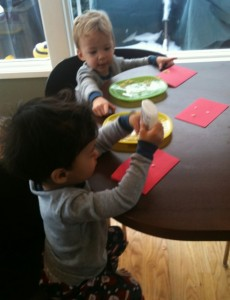 pasta noodle cards with kids