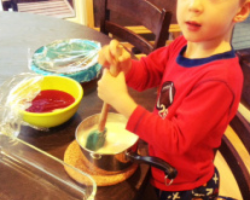 making stained glass jello with preschoolers