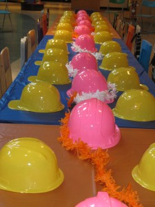 Construction party with kids