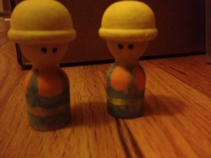 Wooden Bob the Builder Cake Topper