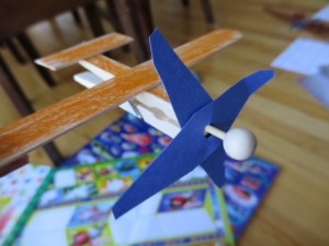Make a wooden plane with kids