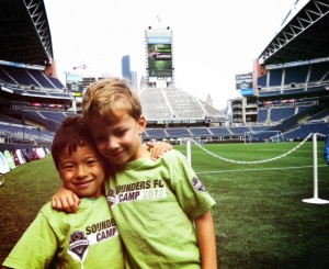 Seattle Sounders Camp Day at the field