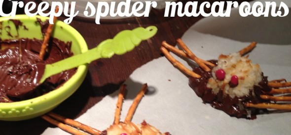 creepy halloween spider snacks