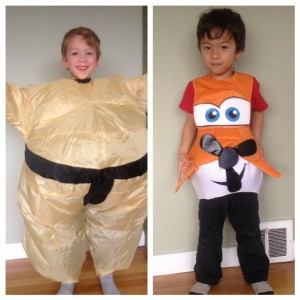 Kids sumo and plane costume