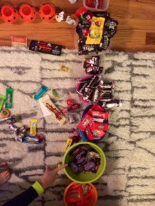 halloween candy sorting in seattle