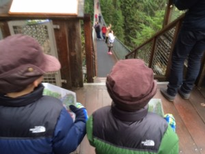 capilano suspension bridge is not scary with kids