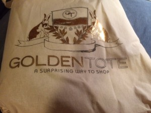 golden tote bag december
