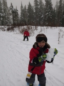 snoeshoing in Whistler with young kids for the first time