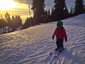 skiing at Seymour in BC with kids