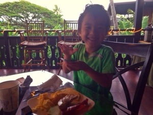 breakfast at paradise bay resort