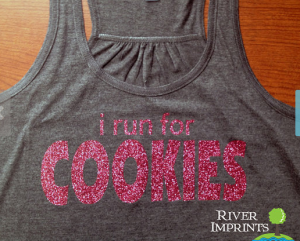 run for cookies exercise shirt