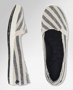 striped reef summer shoes