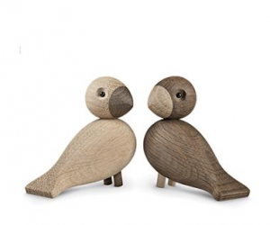 love birds made of wood