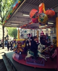 merry go round in front of kb coffee