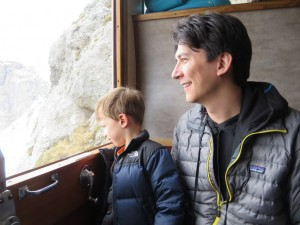 riding the cogwheel railway
