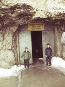 tunnel to hotel lobby at mount pilatus was a hit with our kids