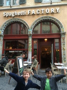 spaghettie factory zurich is different than the one in the USA