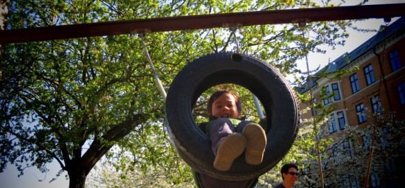 tire swing on the water