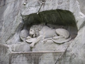 lion monument in Switzerland is the saddest statue I've ever seen