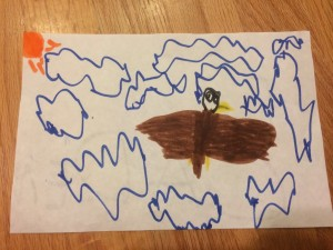 eagle drawing by a kid