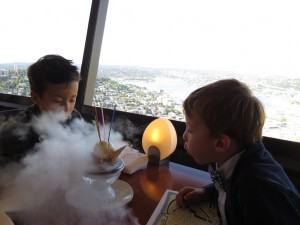 celebrating a birthday at the Space Needle