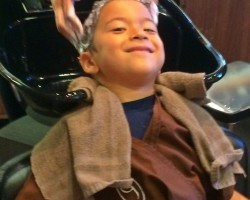kids haircut at Gene juarez