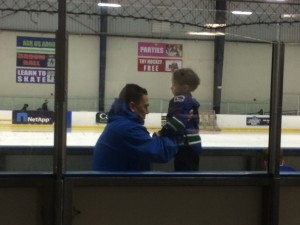 helping with hockey