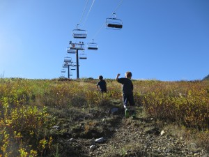 hikes under the chairlift
