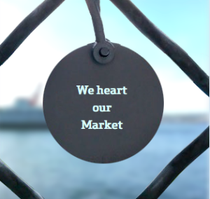 market charm is a great gift for people who love seattle for the holidays
