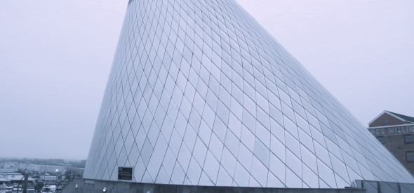 cone shaped glass museum