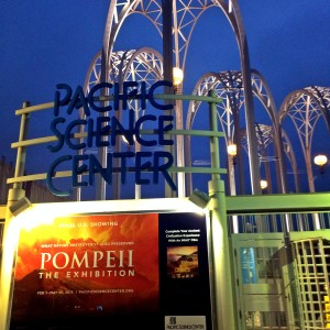 pompeii exhibit at Pacific Science Center with kids