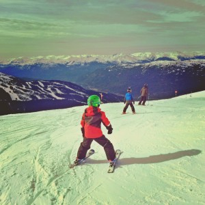 skiing with kids in whistler