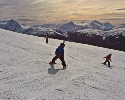 skiin with kids in whistler