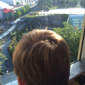 space needle with kids