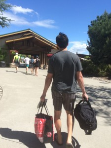 there are lockers to store bags at Silverwood