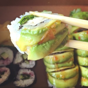 vegetarian sushi roll from Modern Japenese Cuisine in Seattle
