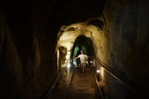 descending into the la jolla cave under the store with kids