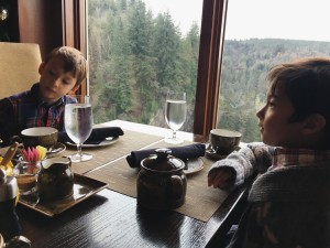 tea with kids at Salish Lodge