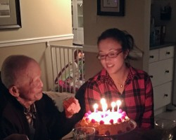 grandpa and grandaughter share a birthday