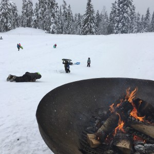 sledding in whistler at the callaghan valley