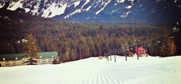 Spring Skiing in Snoqualmie Pass with kids