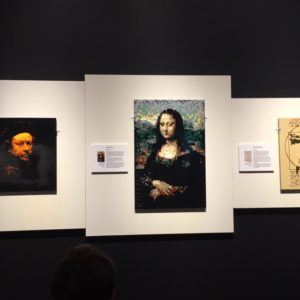 Mona Lisa made of Lego at Art of the Brick