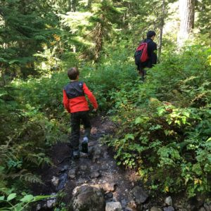 Hiking with friends and family in the pacific northwest