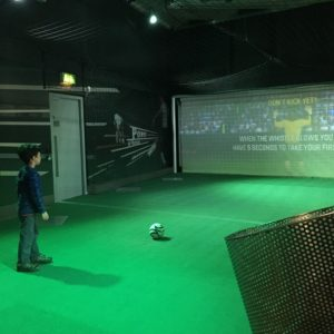 Shooting skills game at the National Football museum in England