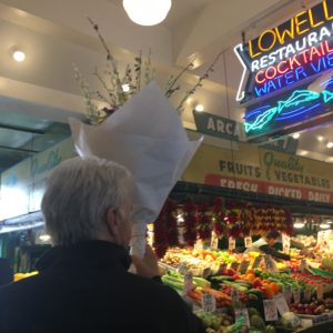 Flowers and Lowells at Pike Place Market
