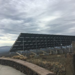 Solar panel at Wild Horse Wind Farm in Ellensburg