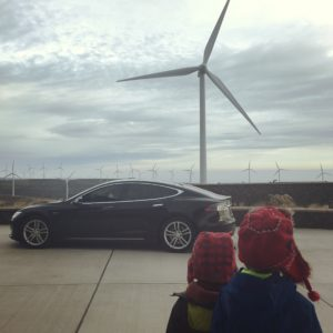 You can charge your electric car at the Wild Horse Wind Farm in Ellensburg Washington