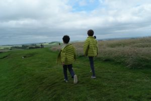 Hadrian's Wall with kids in England in August