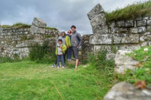 Hadrian's wall in the summer with kids